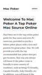 Mobile Preview of macpoker.net