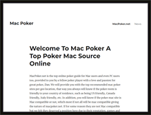 Tablet Preview of macpoker.net